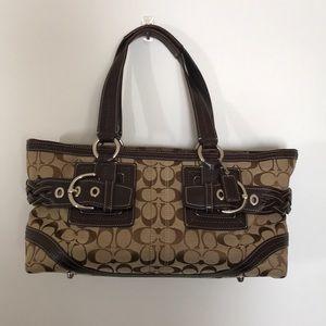 Coach Soho Signature Zip Jacquard Bag #05089